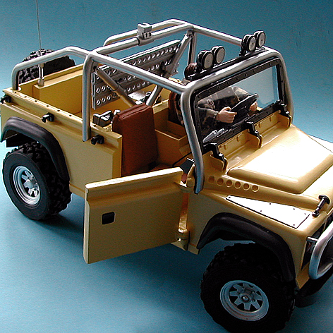 Toy Landrover with Driver