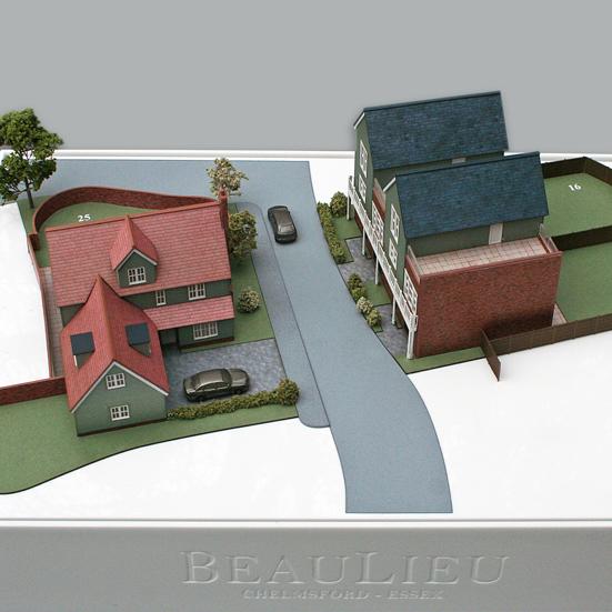 Sample Housing Model at 1:150