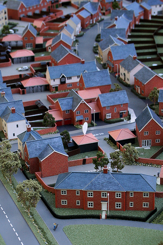 200th Scale Chesterwell Residential Development Model Apartment Building