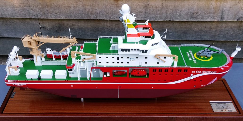 100th Scale Royal Research Ship Model for Cammel Laird