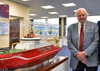 RRS Sir David Attenborough Keel Laying 1:100