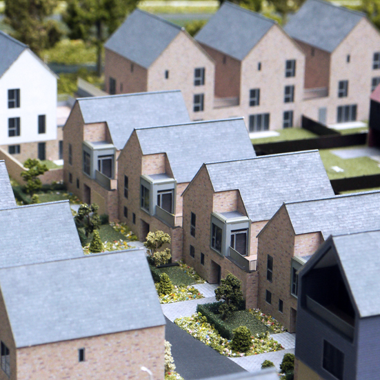 200th Scale Beaulieu Keep Architectural Housing Model Modern Terrace
