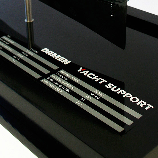 Yacht Support Name Plaque Detail YS5009