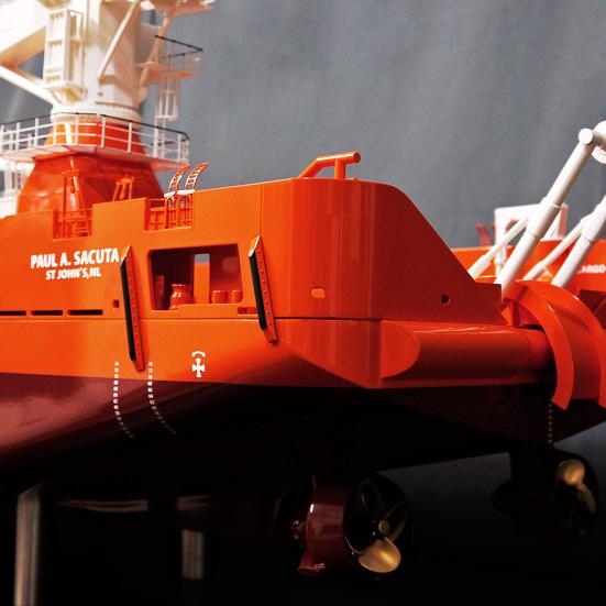 Damen Platform Supply Vessel 5000 75th Scale Boat Model