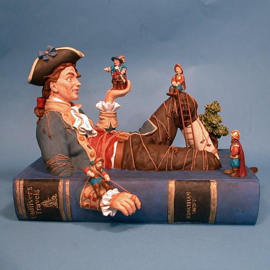 Gulliver Book Sculpture