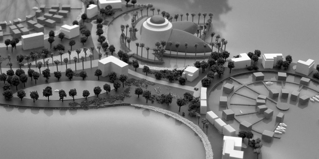 The Quay Dubai Concept Masterplan Scale Model for Adams Estates