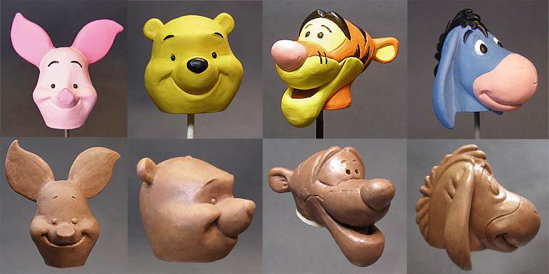 Winnie the Pooh Figure Heads