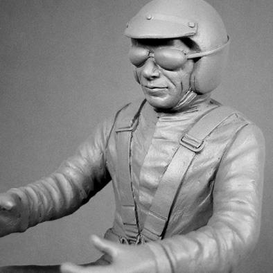 Jim Hall Race Driver Figure