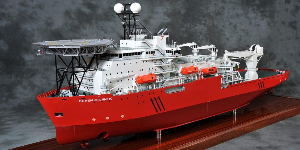 Merewede Rigid Reeled Pipelay Vessel 100th Scale Model