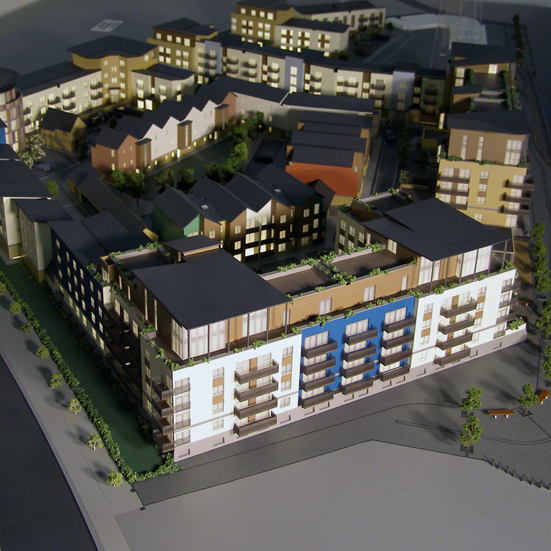 Colne View Development Display Model 1:200